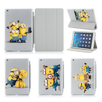 Minions Taking Photo Fashion Print Cases For Apple Ipad Air Case Smart Cover For Ipad Air