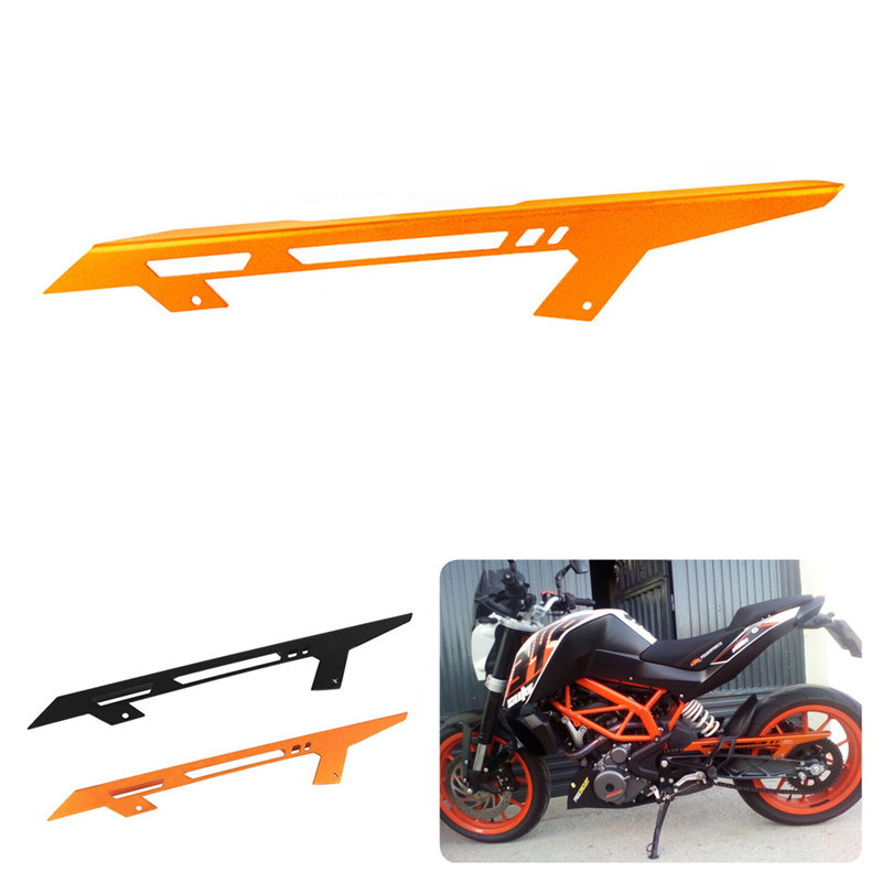 For KTM DUKE 390 2013-2018 2014 2015 2016 2017 DUKE 125/200 Chain Guard Cover Protector Motorcycle CNC Aluminum Accessories image