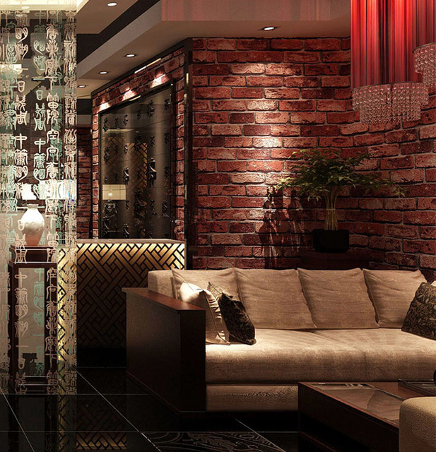 Vintage Brick Wallpaper Living Room Pattern Wall Paper For Home Deco Restaurant Bar