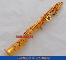 Electrophoresis Gold  Soprano Saxophone Bb key to High F key-2 Neckes