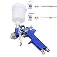 H-2000 HVLP Spray Gun 0.8mm 1.0mm Set Steel Nozzle Cars Painting Furnitures DIY Painting Kit Car Auto Repair Tool