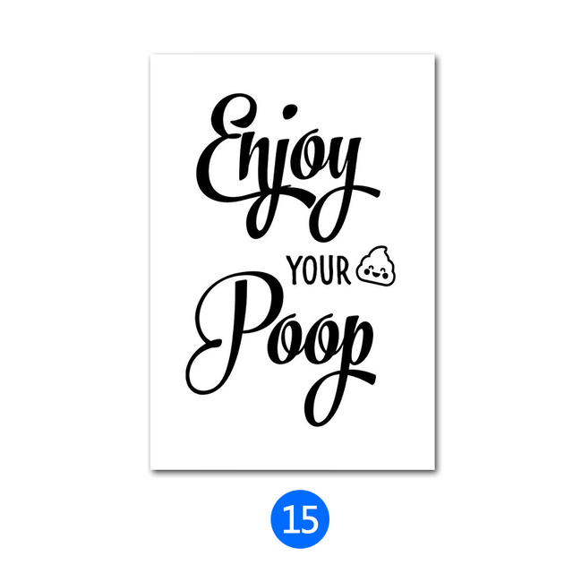 US $4 11 50% OFF|Toilet Slogan Plaque Vintage Metal Tin Signs Home Bar Pub  Decorative Metal Plates Happy Pooping Wall Sticker Iron Art Poster MN7-in