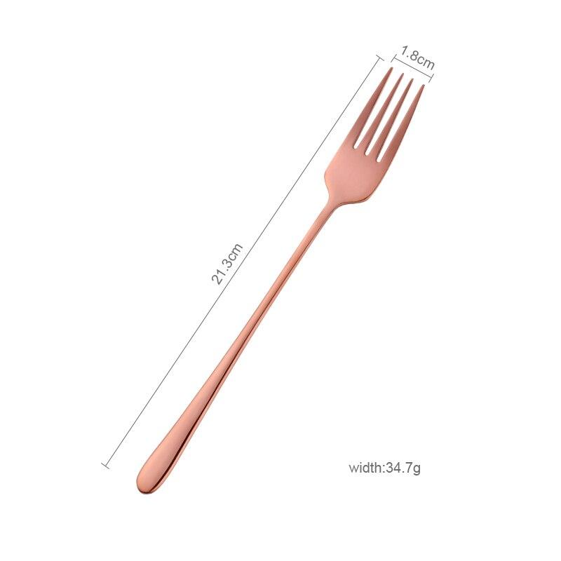 8 Colors Stainless Steel Long Handle Dinner fork Korean Rainbow Fork Hotel Restaurant Party Supplies Dinnerware Steak Gold Fork in Forks from Home Garden