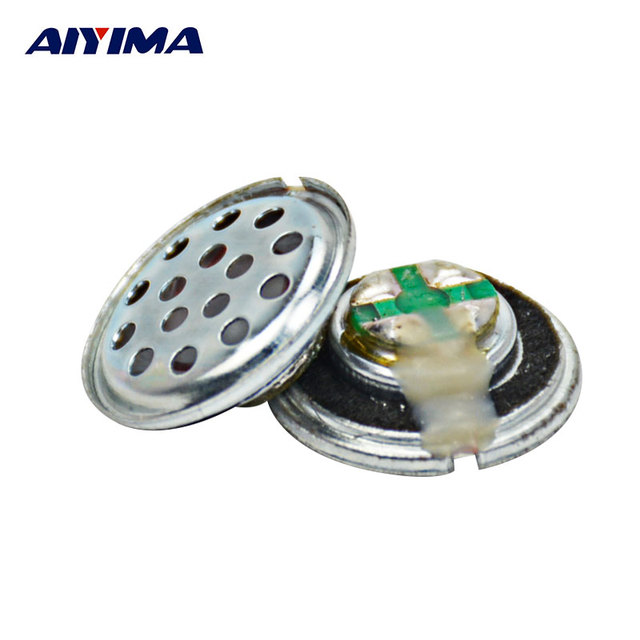 Aiyima 20 unids 15mm audio estéreo auriculares portátiles Altavoces 32ohm 3 MW altavoz DIY bajo Altavoces Accesorios