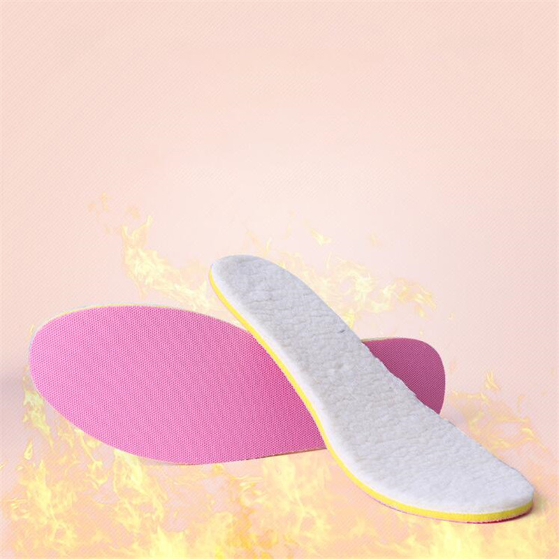 Winter Wool Warm Heated Insoles Thermal Thickened Warm Keeping Shoes Pad Lambskin Sports Insole For Men And Women new winter plush warm heated insoles remote control insole thermal thickened warm keeping shoes soles for men and women 2000mah