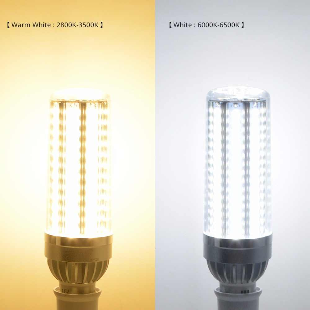 חכם גבוהה כוח 25 w 35 w 45 w LED מנורת הנורה E27 220 v 110 v AC 85 v -265 v אלומיניום LED תירס אור