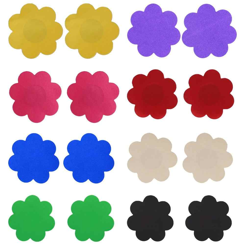 2019 New 1Pair Flower Shape Nipple Stickers lingerie Self-Adhesive One Size Silicone Breast Nipple Cover Bra Pasties Pad