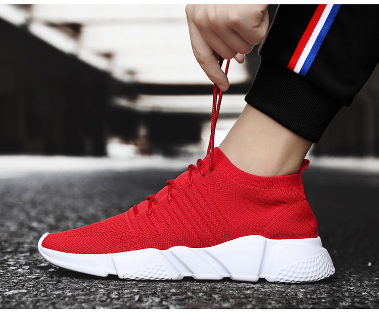 HTB1b8iwAvuSBuNkHFqDq6xfhVXaS - Men Sneakers Lightweight Flykint Casual Shoes Men Slip On Walking Socks Shoes Trainers Mesh Flat Homme Big Size Tenis Masculino
