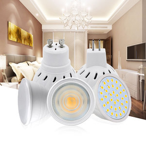 LED Bulb Spot light 220V MR16 GU10 4W 6W 8W 5W 7W 2835 COB Chip 24 120 180 Degree Chandelier LED Lamp Down light Table Light