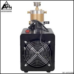 Image 4 - 4500PSI High Pressure AUTO STOP Electric PCP Compressor Reciprocating Air Pump for Pneumatic Airgun Scuba Rifle PCP Inflator