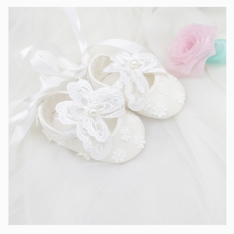 Baby Infant Toddler Girls Satin Flower Headband with Diamante Accent 0-18m