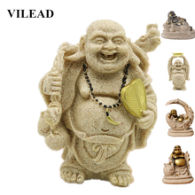 VILEAD 5 Style Nature Sandstone Maitreya Buddha Statues Religious Figurines Statuettes Home Living Room Decoration Accessories