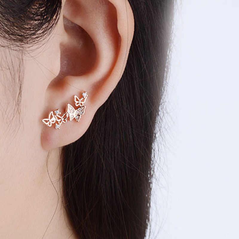 XIYANIKE New Arrival 925 srebro moda gorąca sprzedaż koreański muszka cyrkon kolczyki dla kobiet Oorbellen Brincos VES6613