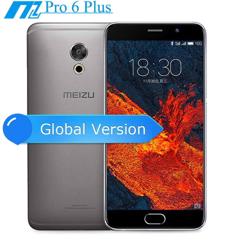 Original Meizu Pro 6 Plus Pro 6Plus 5.7 Inch Octa Core Exynos 8890 4GB 64GB 12MP Camera MTouch 3400mAh Mobile Phone