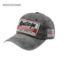 HANGYUNXUANHAO New Washed Cotton Men Baseball Cap Snapback Hats For Women Embroidery Hat Letter Bone Gorras Casquette