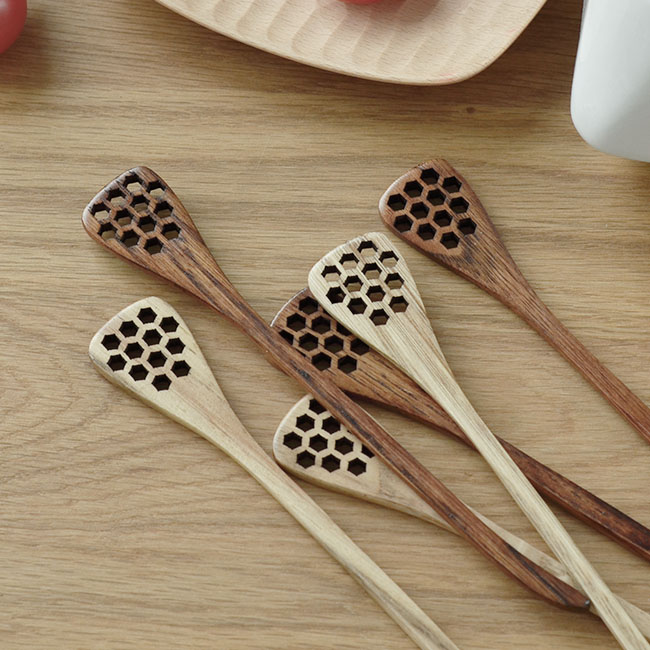 Japanese style Wood Craft honey stirring rod mixing woodeen coffee wooden spoon(China (Mainland
