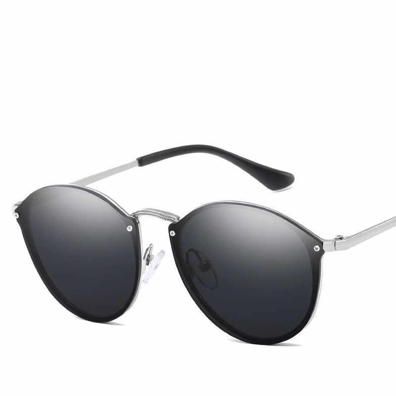 484637ad5d ... 2019 New Fashion Rimless Sunglasses Women Brand Designer Mirror Vintage  Round Cat Eye Sunglass Female Lady ...