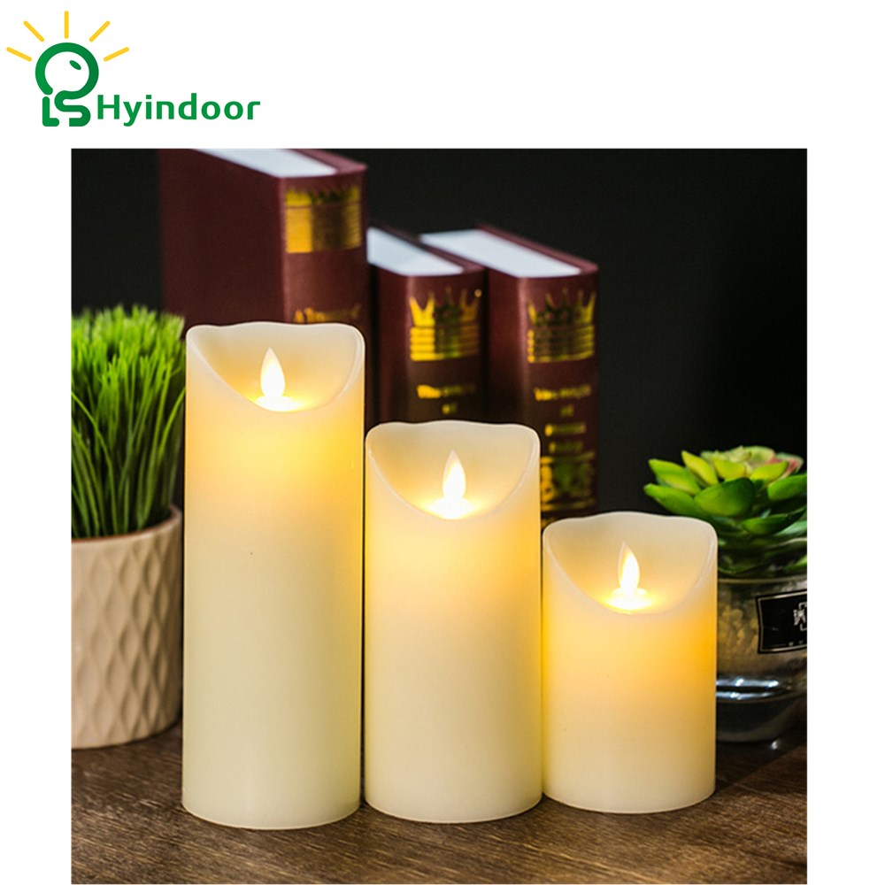 3 pc Remote Control LED Electronic Flameless Candle Lights Simulation Flame Flashing Candle Lamps Romantic Decor fancy purple led flameless candle