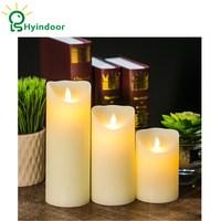 3 stück Fernbedienung LED Elektronische Flammenlose Kerzen Simulation Flamme Blinkende Kerze Lampen Romantische Dekoration auf