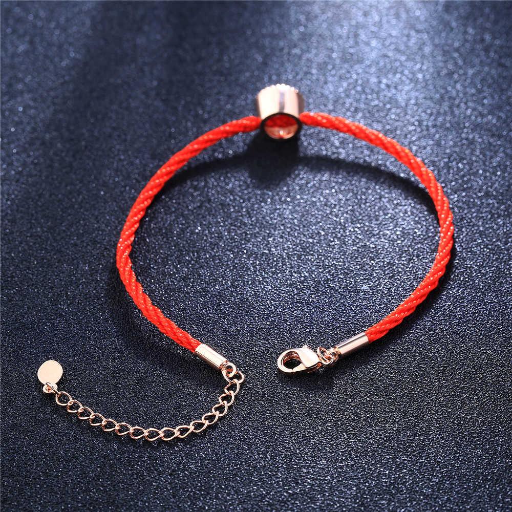 Boako手作り編組赤いロープブレスレットスレッド結晶チャームブレスレット持参あなたラッキー平和ファッション腕輪pulseras z5