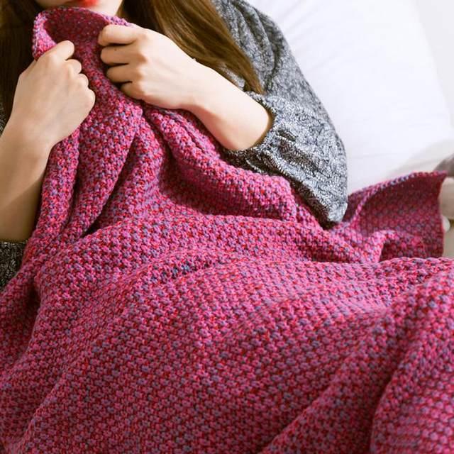 Tienda Online Moda sirena cola manta hecho a mano crochet adulto bed ...