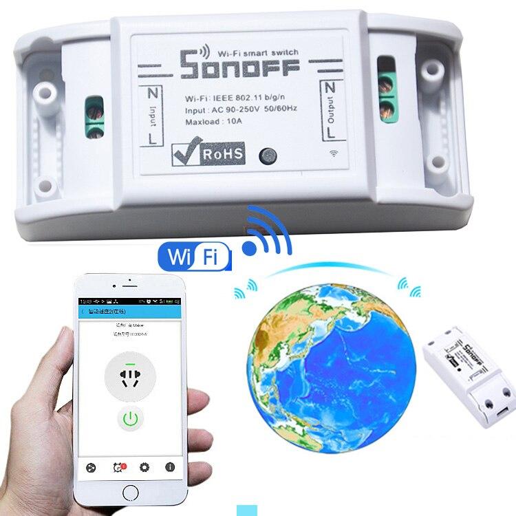 sonoff dc220v Remote Control Wifi Switch Smart Homes