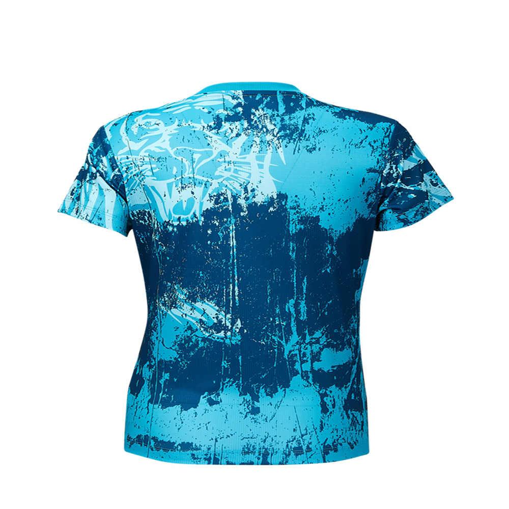 Kawasaki Badminton Sportswear Shirts For Women Running Yoga V-Neck Breathable Blue Color Tennis  Sport T-shirt ST-S2120 ST-S2126