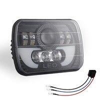 300 w 5x7 led faróis led selado feixe cabeça lâmpada de luz com alta baixa feixe led farol para jeep wrangler yj cherokee xj|Luzes p/ carro| |  -