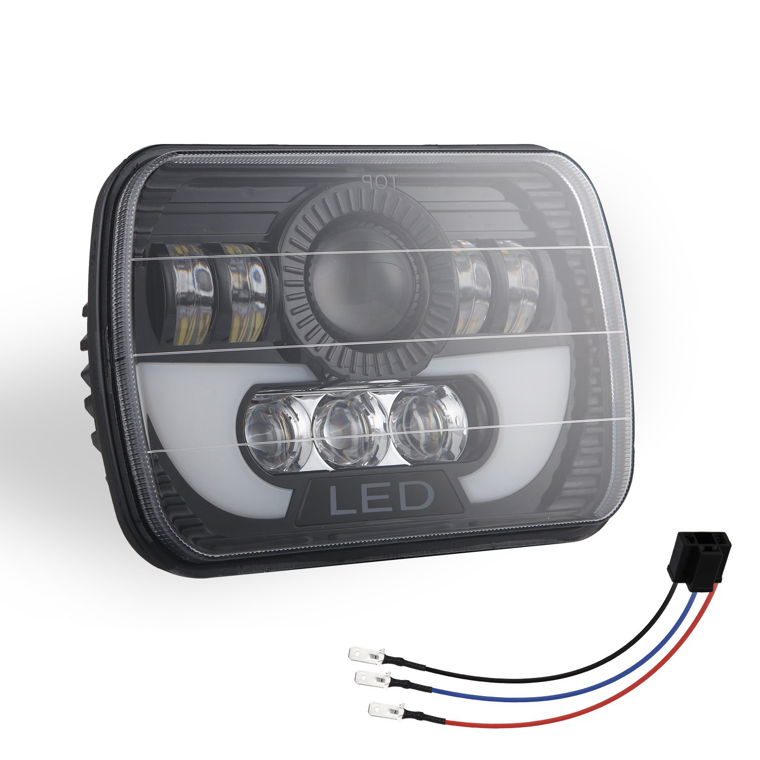 300W 5X7 Led Headlights Led Sealed Beam head light lamp With High Low Beam Led Headlight For Jeep Wrangler Yj Cherokee Xj