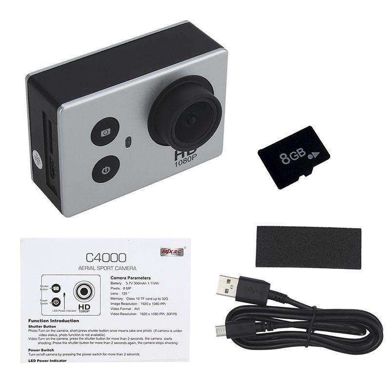 Caméra FPV Sport aérienne originale MJX C4000 1080 P 8MP 120 avec carte SD 8 GB pour Bugs MJX 3 B3 RC quadrirotor