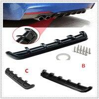 ABS Car Rear Shark Fin Style Curved Bumper Lip Diffuser for Volkswagen VW polo passat b5 b6 CC golf jetta mk6 tiguan Gol