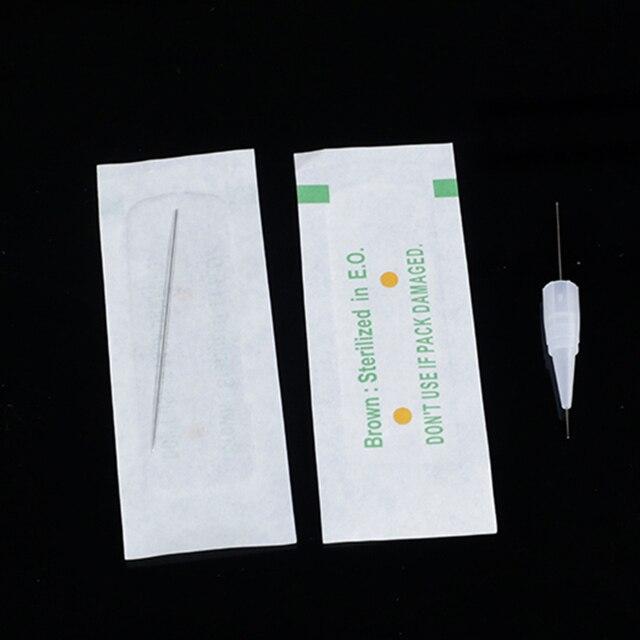 100PCS 1R 3R 5R 5F 7F PMU Needles + Needle Tips Disposable Sterilized Professional Tattoo needles for Permanent Makeup Eyebrow 3