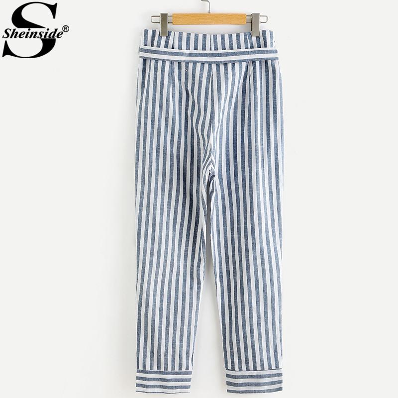 HTB1b8l7aUl7MKJjSZFDq6yOEpXaF - Striped Pants With Bow PTC 208