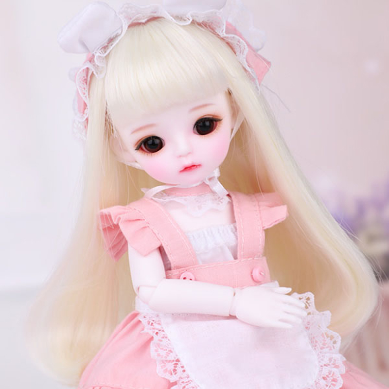 Full Set 16 BJD Doll LOVELY Cute Lina Resin Joint Doll With Glasss Eyes For Baby Girl Birthday Christmas Gift