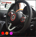 steering wheel sticker for mercedes-benz SMART Fortwo car accessories 2015 2016