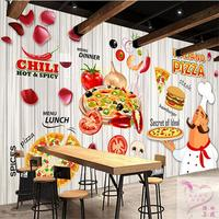 Free Shipping Pizza Commercial Pizza Pizza Cake Hamburger Bakery Wallpaper Casual Coffee Restaurant Large Wall Paintin