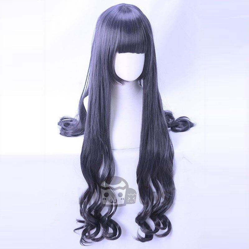 Tomoyo Daidouji Cosplay Wig New Japanese Anime Card Captor Sakura CLEAR CARD Curly Hair Wig Dark