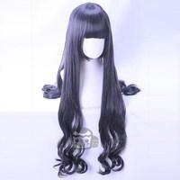 New Japanese Tomoyo Daidouji Cosplay WigAnime Card Captor Sakura CLEAR CARD Curly Hair Wig Dark Mixed Color