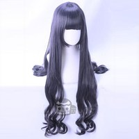 New Japanese Tomoyo Daidouji Cosplay WigAnime Card Captor Sakura CLEAR CARD Curly Hair Wig Dark Mixed Color