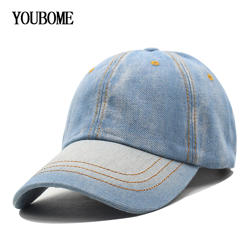 Baseball Cap Men Women Snapback Caps Brand Golf  Hats For Women Visor Bone Jeans Denim Blank Gorras Casquette Plain 2017 Cap Hat