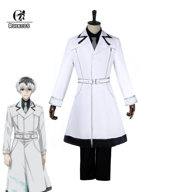 ROLECOS Tokyo Ghoul:re Cosplay Haise Sasaki Cosplay Costume Tokyo Kushu:re Costume Kaneki Ken Anime Men Jacket Pants Shirt rolecos tokyo ghoul re cosplay haise sasaki cosplay costume tokyo kushu re costume kaneki ken anime men jacket pants shirt