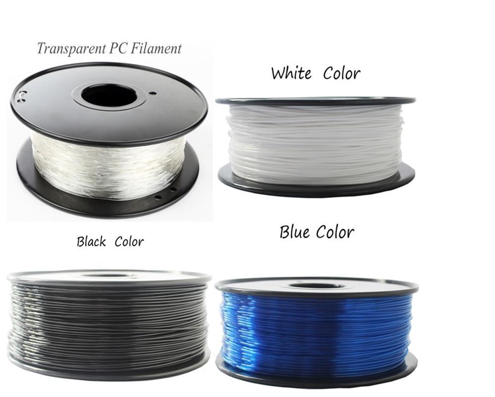 1.75/3mm Premium  PC Filament For 3D Printer Polycarbonate Filament Strong Thermoplastic Temperature-Resistance