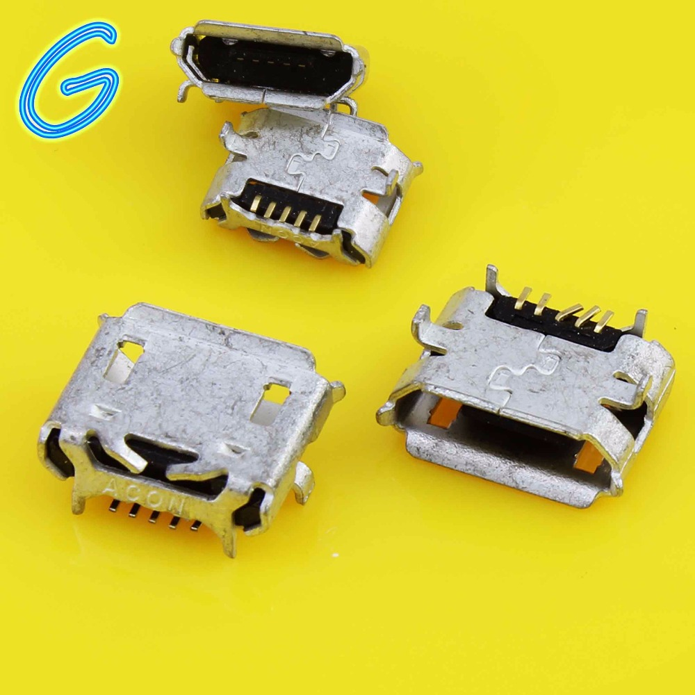 5pcs Brand NEW Micro USB jack Connector Socket For Asus Transformer FE170CG K012 FONEPAD7 FE170 / For <font><b>HTC</b></font> <font><b>HD2</b></font> <font><b>T8585</b></font> G10 image