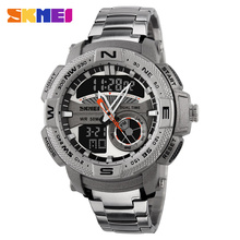 New Outdoor Sports Watch Men Digital Quartz Watches Waterproof Alarm Chrono Stop Watch Back Light Analog Wristwatch 2016 SKMEI