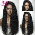 Высокая Плотность Свободную скручиваемость синтетический парик фронта шнурка glueless черный локон парика жаропрочных syntehtic парик фронта шнурка для черного женщины