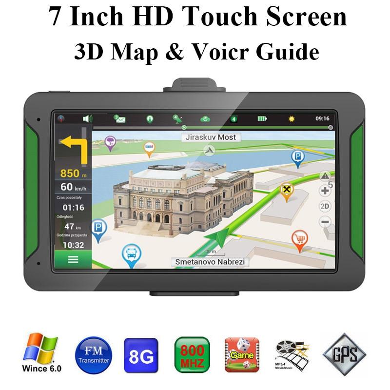Car Gps Navigator 7 Inch Hd Press Screen 8Gb Built-In Memory +256 Running Memory Driving Navigation Map Of Australia