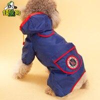 Yeni] pet köpek yağmurluk Taktik VIP pet giyim orta köpek bacaklar ve panço
