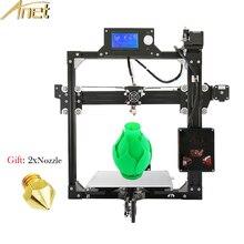 Дешевые Анет A2 3D принтер Наборы Высокая точность металлический каркас Анет A2 3D-принтеры комплект DIY легко собрать Бесплатная Насадка подарков