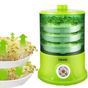 Image 2 - Машина для выращивания фасоли домашняя Автоматическая 3 слойная большая емкость умная многофункциональная машина для выращивания фасоли