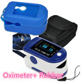 5 PIC CE  FDA Brand New 2017 CONTEC pulse Oximeter CMS50D 6 colours Free shipping Manufacture+Rubber Case CMS50D